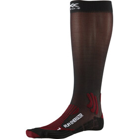 X-Socks Run Energizer Chaussettes, dark ruby/opal black